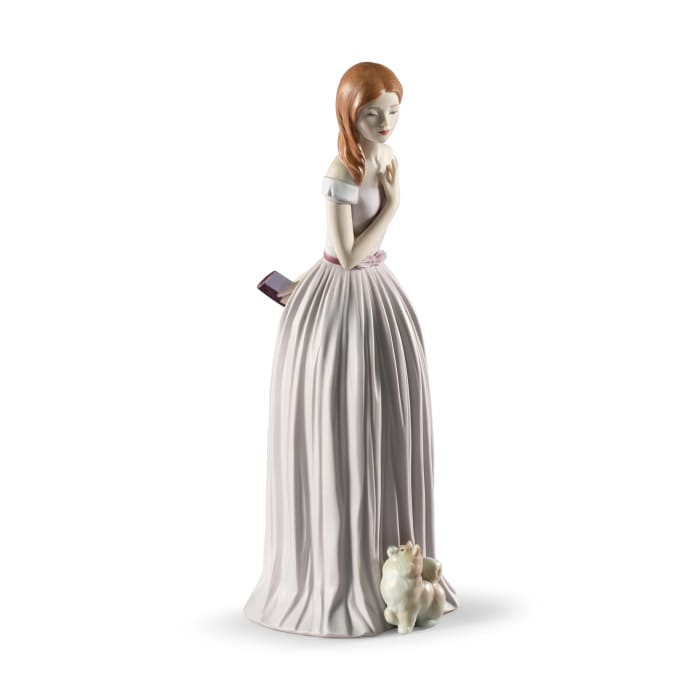 """Lladro """"I'Ll Walk You to the Party"""" Porcelain Figurine"""