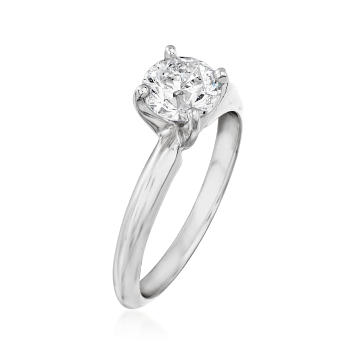 1.01 Carat Diamond Solitaire Ring in 14kt White Gold