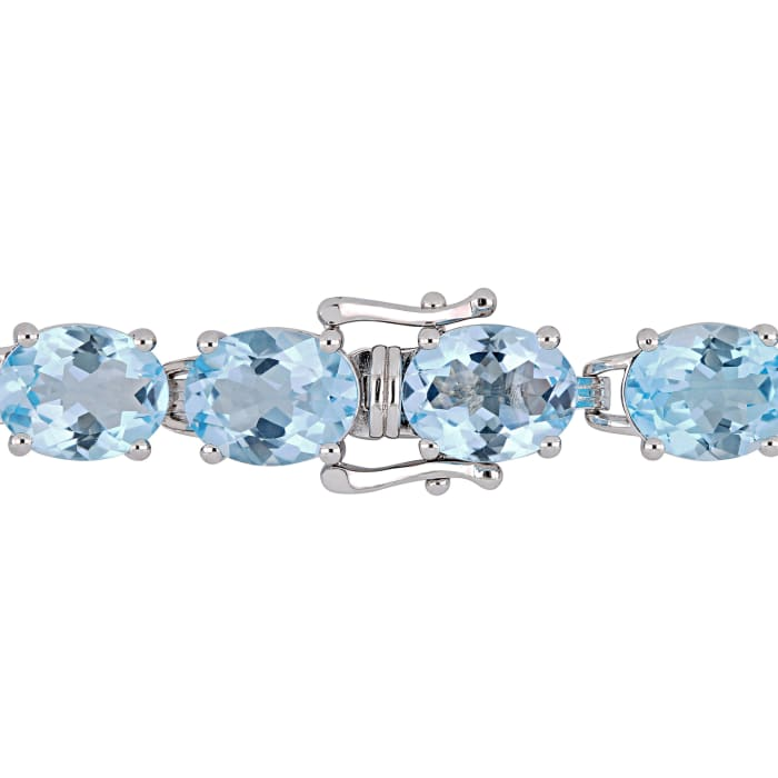 55.00 ct. t.w. Sky Blue Topaz Bracelet in Sterling Silver