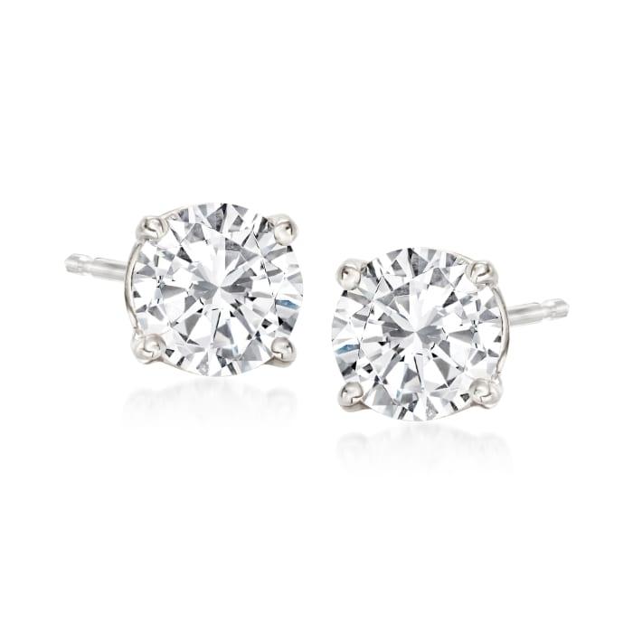 1.50 ct. t.w. Diamond Stud Earrings in 14kt White Gold