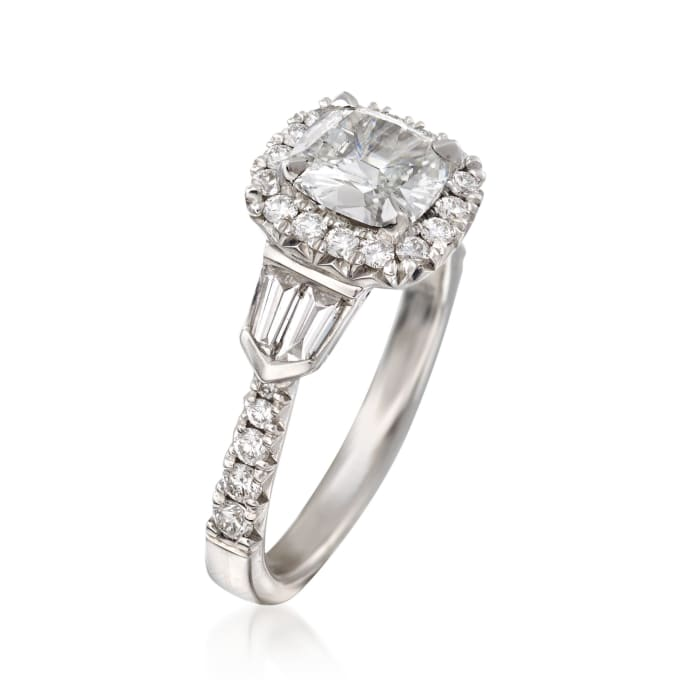 Henri Daussi 1.58 ct. t.w. Certified Diamond Engagement Ring in 18kt White Gold