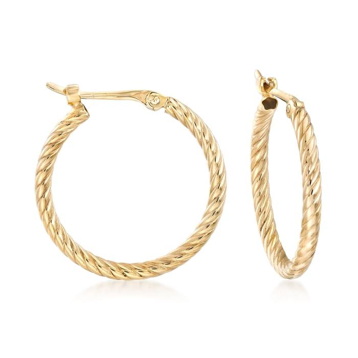 14kt Yellow Gold Petite Twisted Hoop Earrings