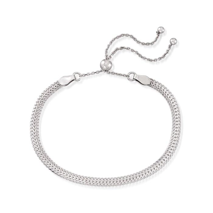 Sterling Silver Jewelry Set: Arrow-Link Bolo Bracelet and Beaded Bolo Bracelet with Single- Initial Heart Charm
