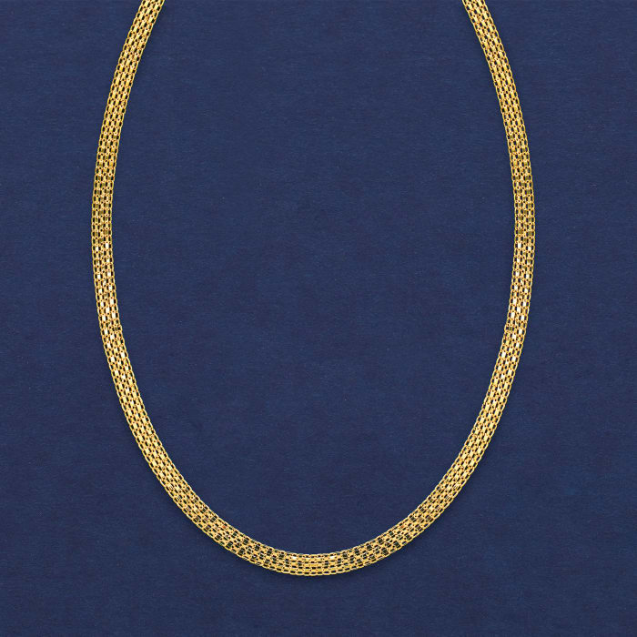 Italian 18kt Yellow Gold Bismark-Link Necklace