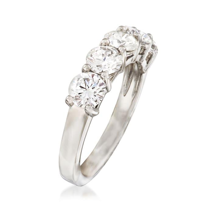 2.00 ct. t.w. Diamond Five Stone Wedding Band in Platinum