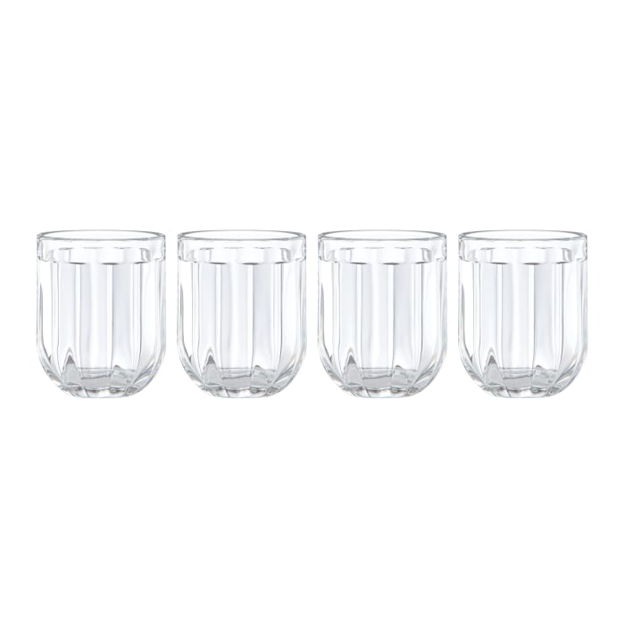 """Kate Spade New York """"Park Circle"""" Set of 4 Double Old-Fashioned Glasses"""