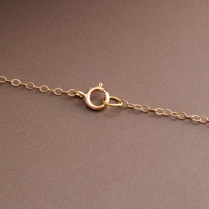 9-9.5mm Cultured Pearl Station Necklace in 14kt Yellow Gold
