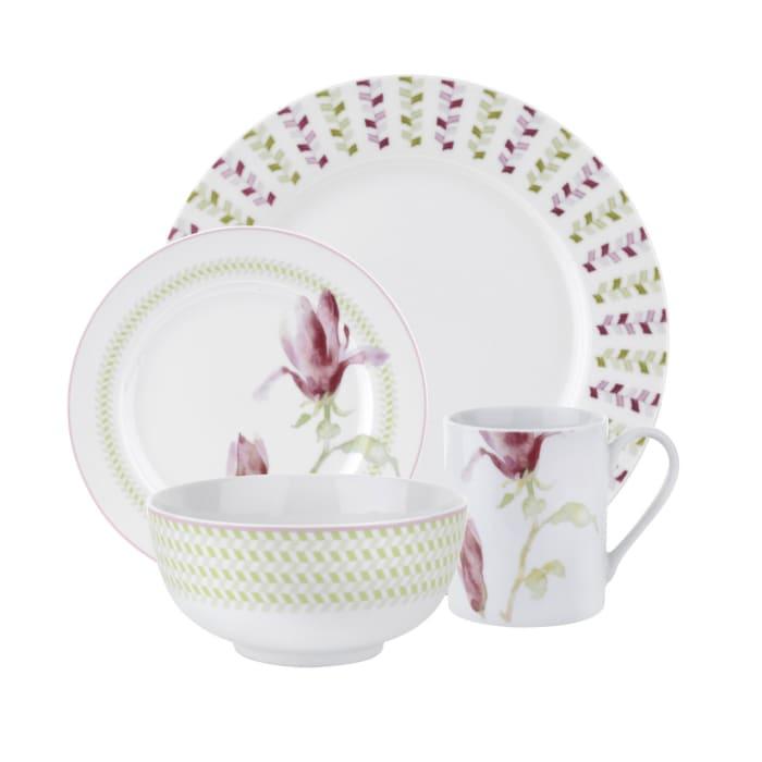 """Spode """"Magnolia Haze"""" 16-pc. Service for 4 Dinnerware Set"""