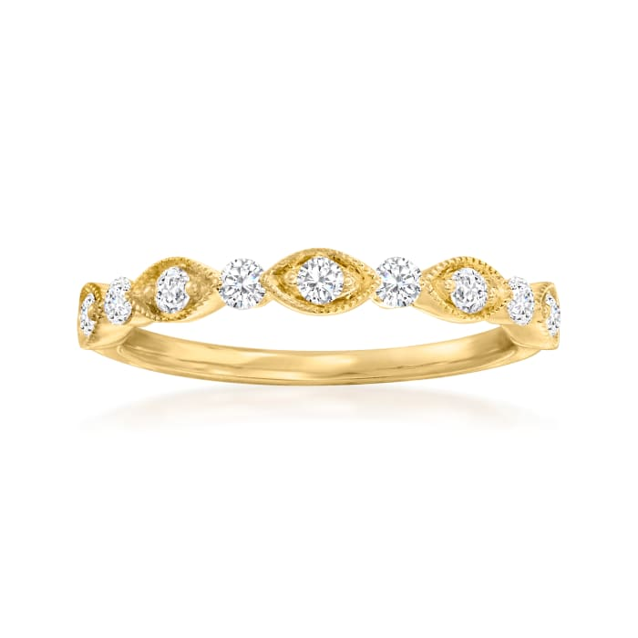 Henri Daussi .30 ct. t.w. Diamond Wedding Ring in 14kt Yellow Gold