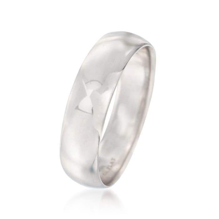 Men's 6mm Platinum Wedding Ring