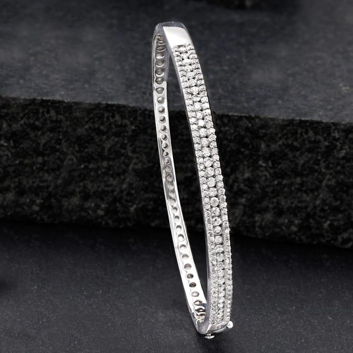 2.00 ct. t.w. Diamond Bangle Bracelet in Sterling Silver