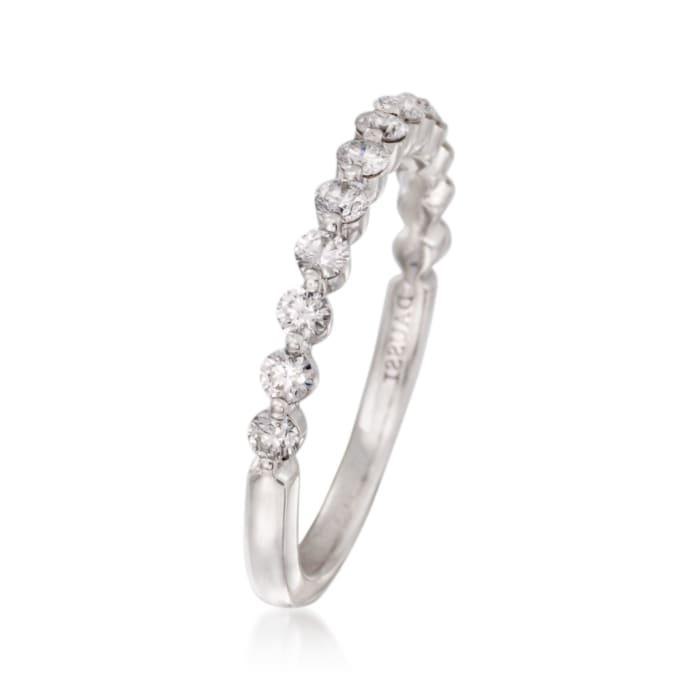 Henri Daussi .46 ct. t.w. Diamond Wedding Ring in 18kt White Gold