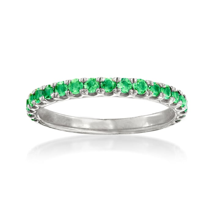 .50 ct. t.w. Emerald Ring in Sterling Silver