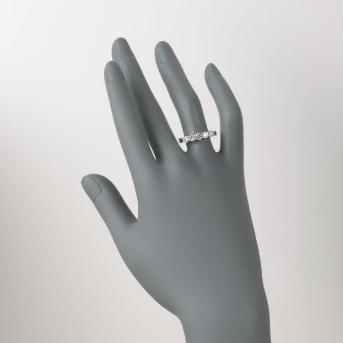 1.00 ct. t.w. 5-Stone Diamond Wedding Ring in 14kt White Gold