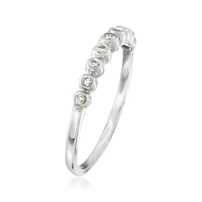 .13 ct. t.w. Bezel-Set Diamond Ring in Sterling Silver