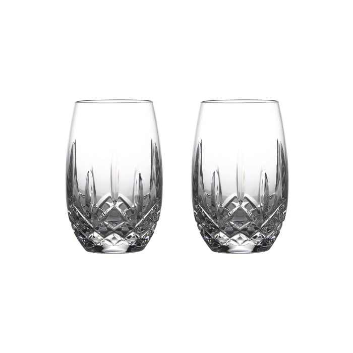 """Waterford Crystal """"Nouveau"""" Set of 2 Stemless Glasses for White Wine"""