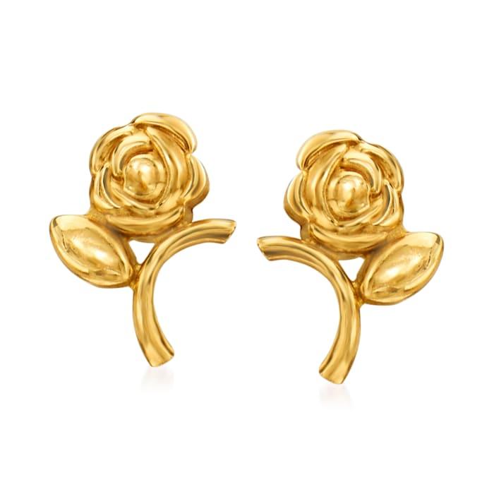 14kt Yellow Gold Flower Stud Earrings