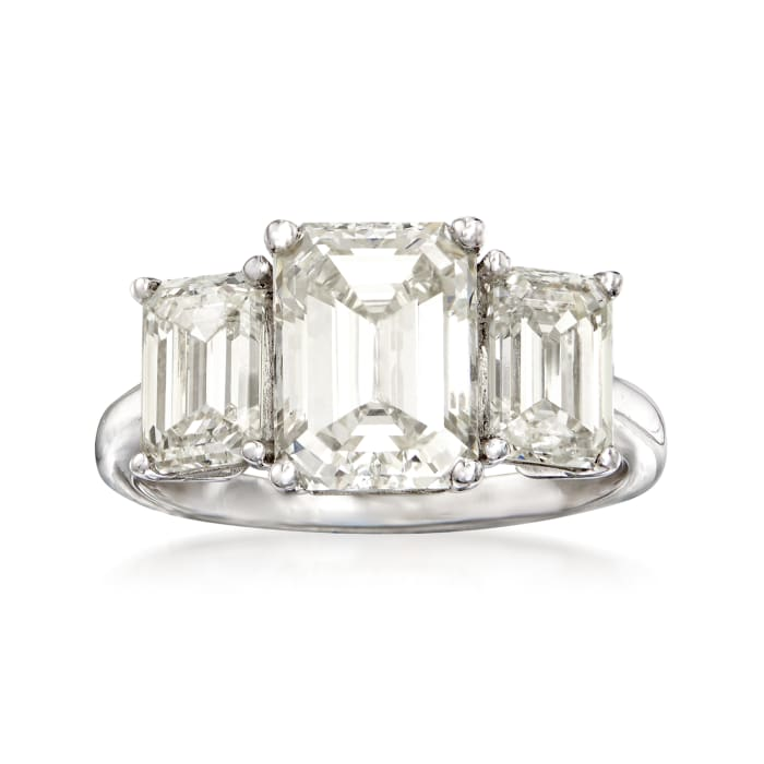 Majestic Collection 4.44 ct. t.w. Diamond Three-Stone Ring in Platinum