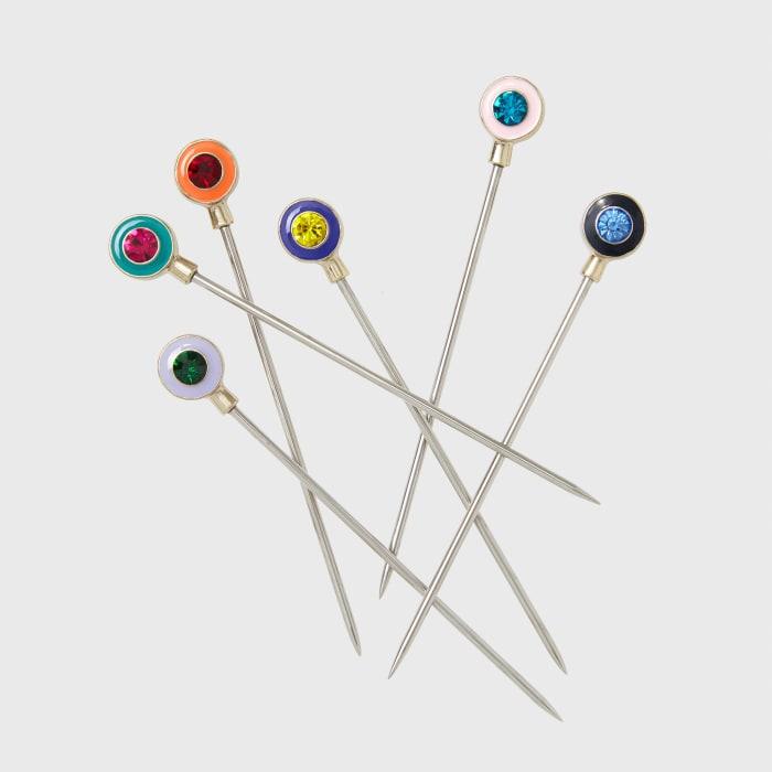 Joanna Buchanan Set of 6 Multicolored Enamel Gemstone Cocktail Picks