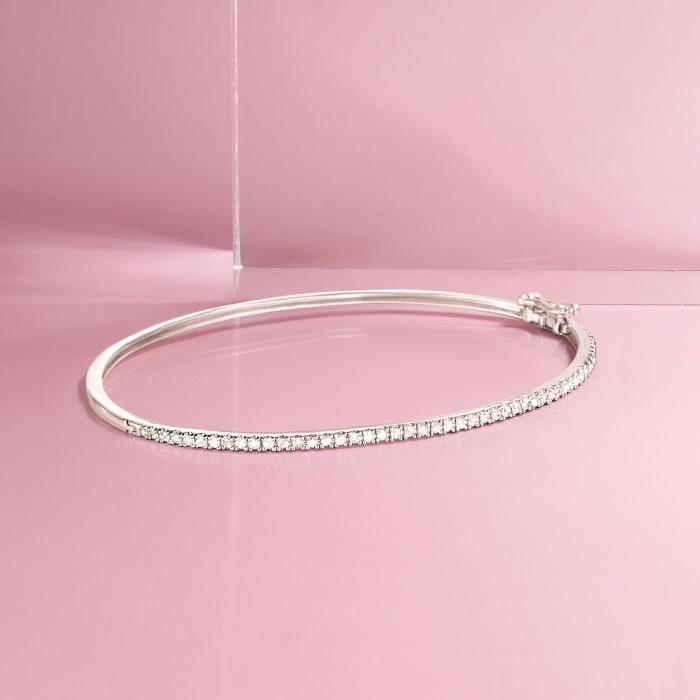 .48 ct. t.w. Diamond Bangle Bracelet in Sterling Silver