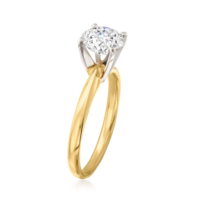 1.50 Carat Diamond Solitaire Ring in 14kt Yellow Gold
