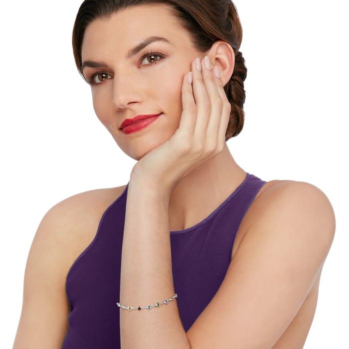 5.25 ct. t.w. Multi-Gemstone Bracelet in Sterling Silver