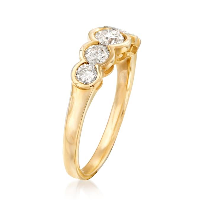 1.00 ct. t.w. Bezel-Set Diamond Five-Stone Ring in 14kt Yellow Gold