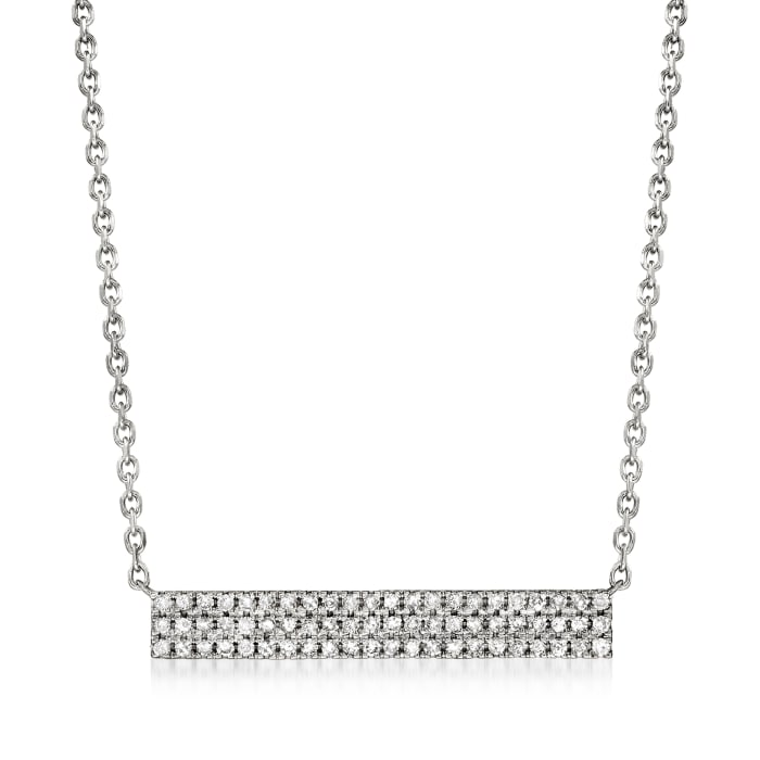 .25 ct. t.w. Diamond Bar Necklace in Sterling Silver