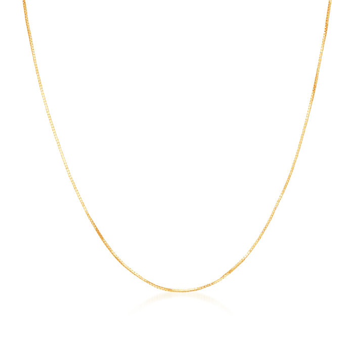 .8mm 14kt Yellow Gold Adjustable Box Chain Necklace