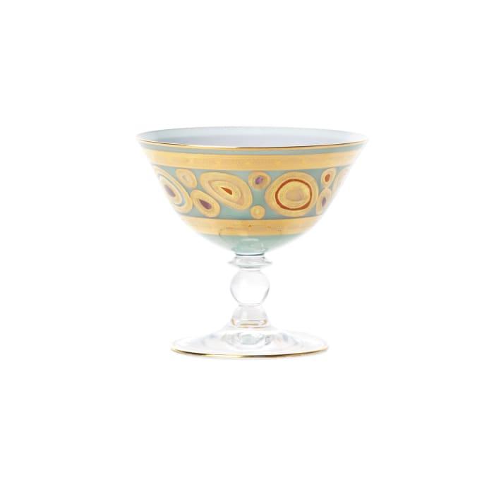 """Vietri """"Regalia"""" Aqua Dessert Bowl"""
