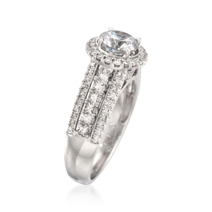 Simon G. .99 ct. t.w. Diamond Engagement Ring Setting in 18kt White Gold