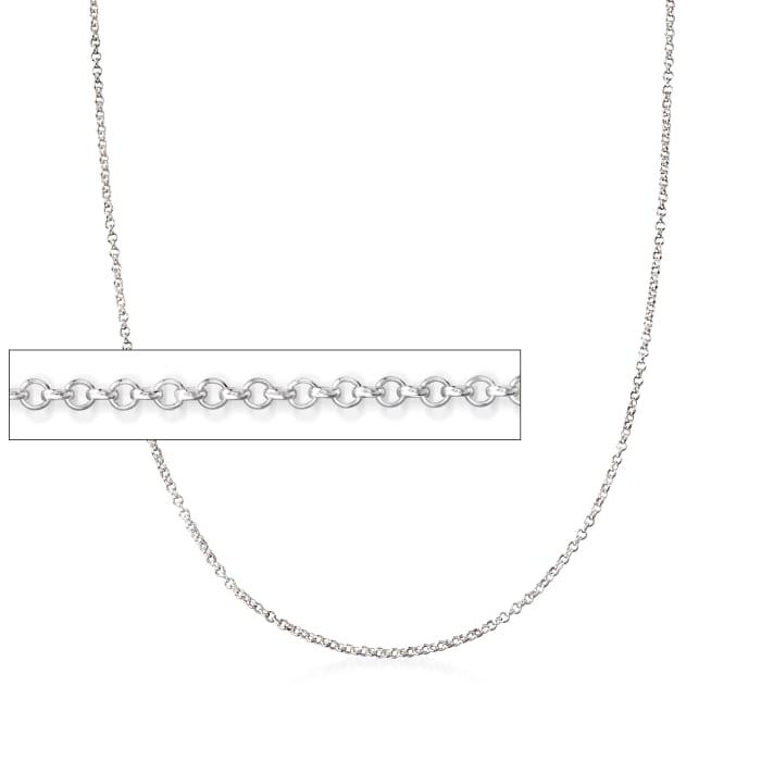 Italian Sterling Silver Rolo Chain Necklace