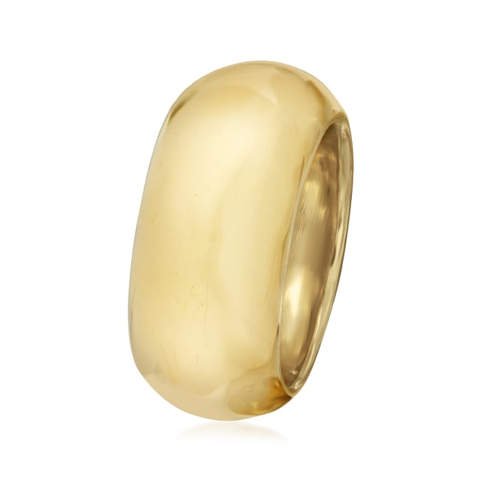 Italian 18kt Yellow Gold Dome Ring
