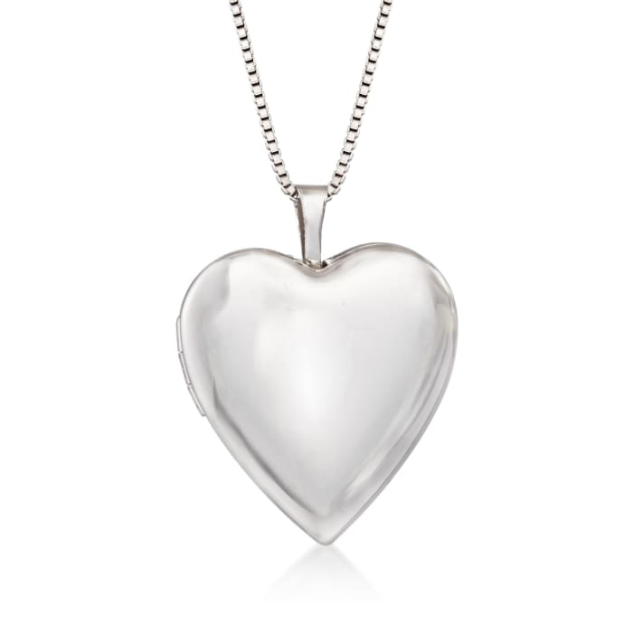 Sterling Silver Mom & Me Jewelry Set: Two Heart Locket Necklaces