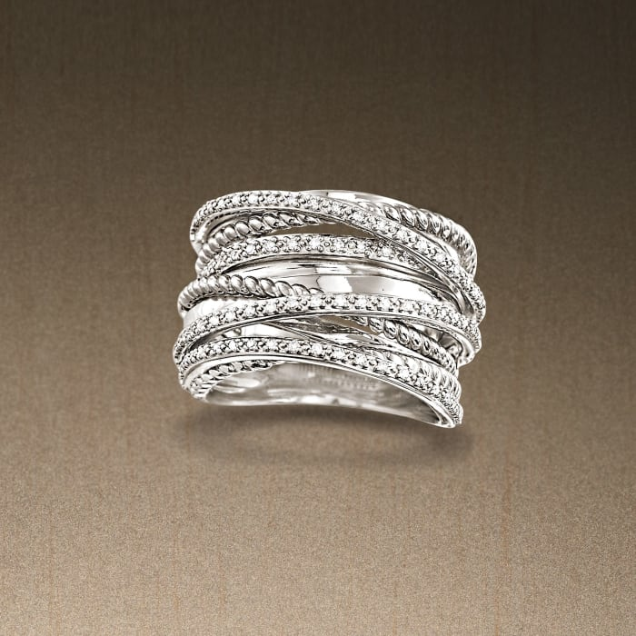 .25 ct. t.w. Diamond Highway Ring in Sterling Silver