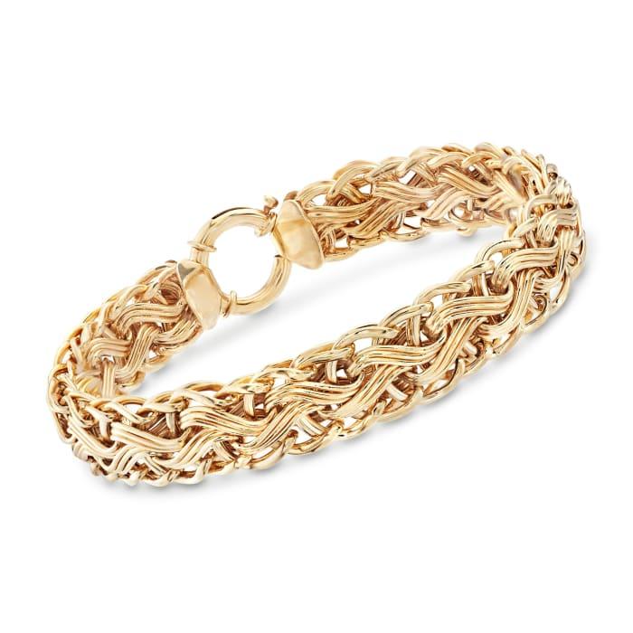 14kt Gold Over Sterling Woven-Link Bracelet