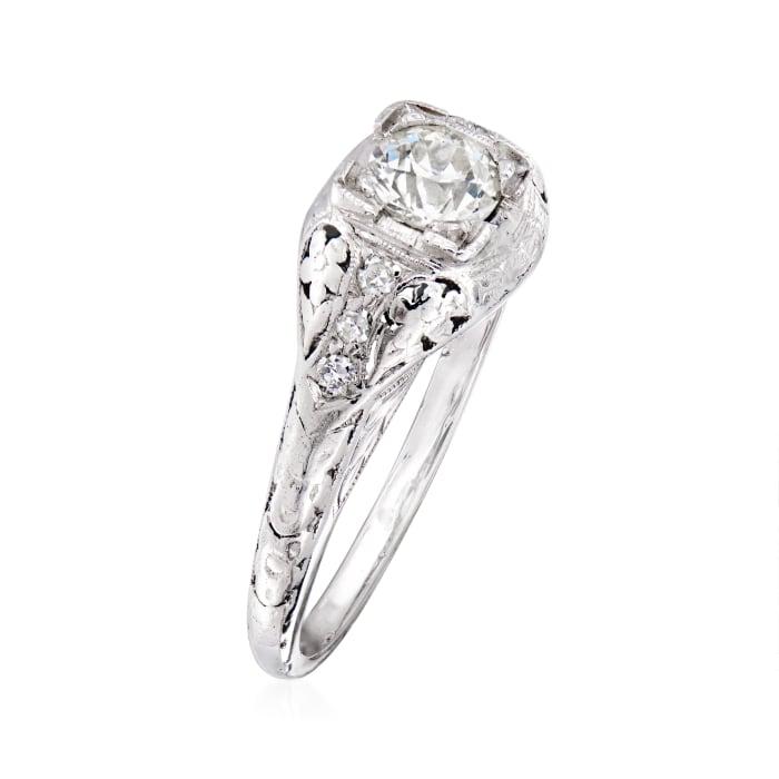 C. 1950 Vintage .54 ct. t.w. Diamond Ring in Platinum