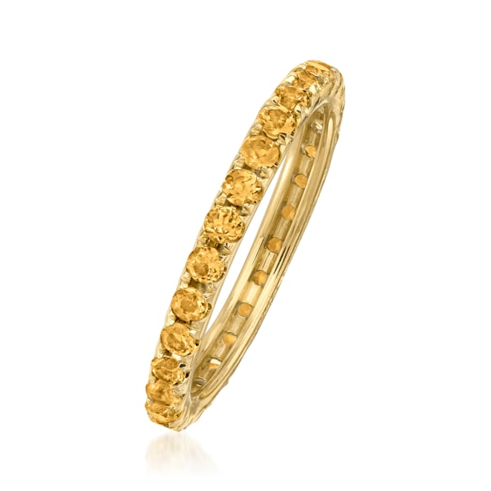 1.00 ct. t.w. Citrine Eternity Band in 14kt Yellow Gold