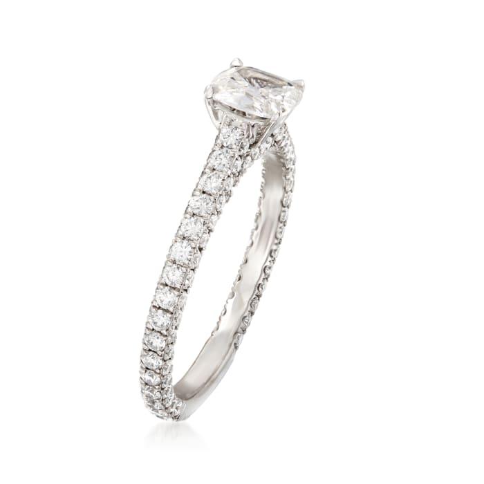 Henri Daussi 1.37 ct. t.w. Diamond Engagement Ring in 18kt White Gold