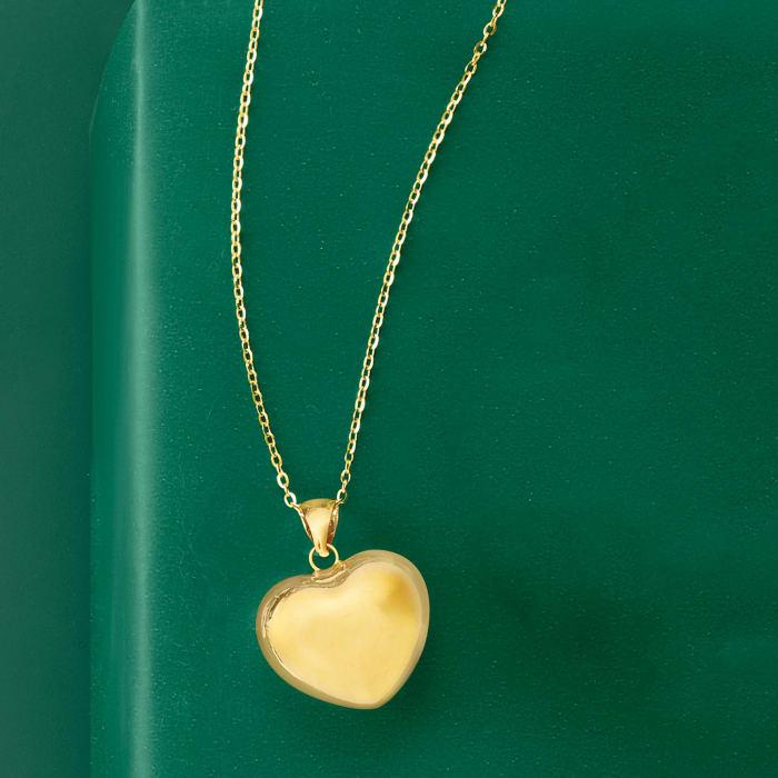Italian 18kt Yellow Gold Heart Pendant Necklace