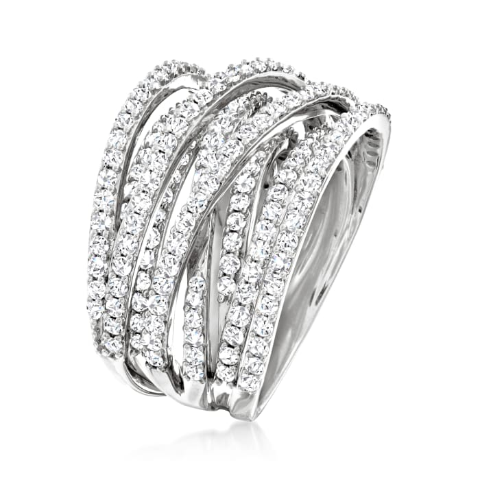 2.50 ct. t.w. Diamond Highway Ring in Sterling Silver