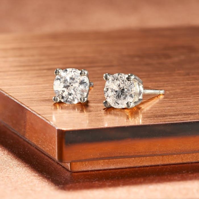 1.25 ct. t.w. Diamond Stud Earrings in 14kt White Gold