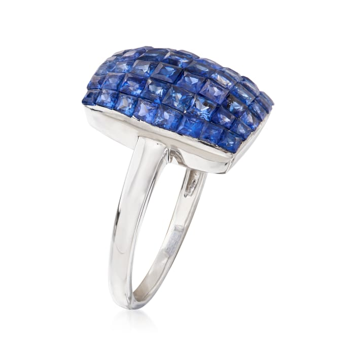 4.40 ct. t.w. Sapphire Ring in 14kt White Gold