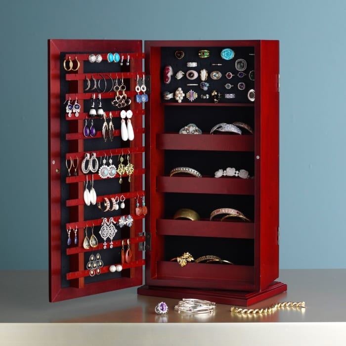 """Safekeeper"" Spinning Jewelry Organizer"
