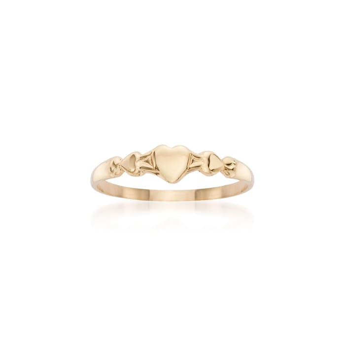 Baby's 14kt Yellow Gold Heart Ring