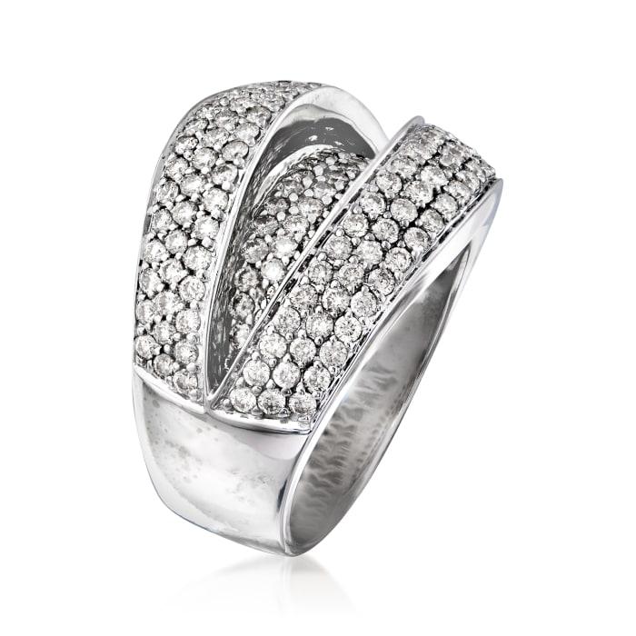C. 1980 Vintage 2.20 ct. t.w. Diamond Fashion Ring in 14kt White Gold