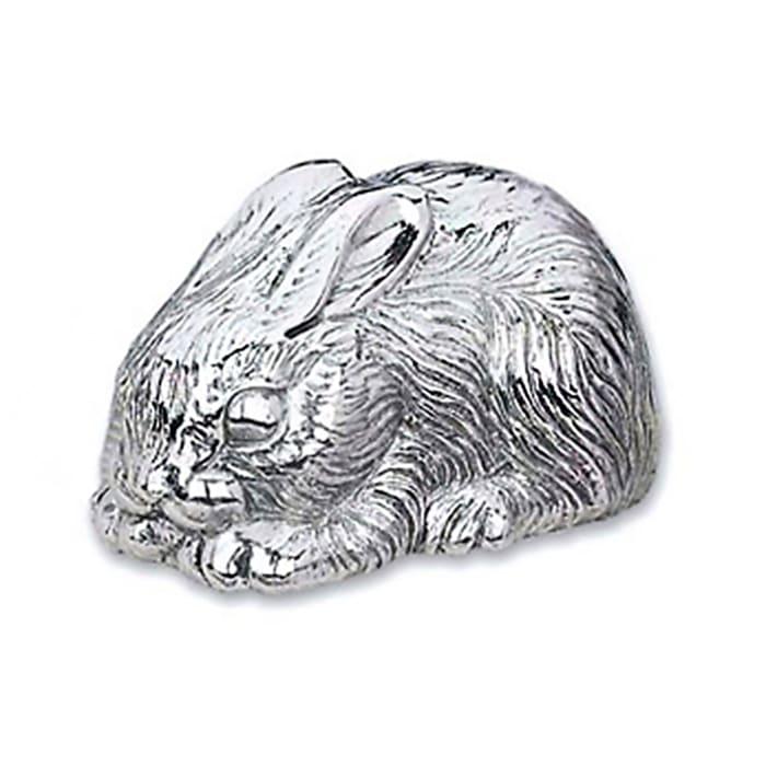 Reed & Barton Silverplate Bunny Music Box