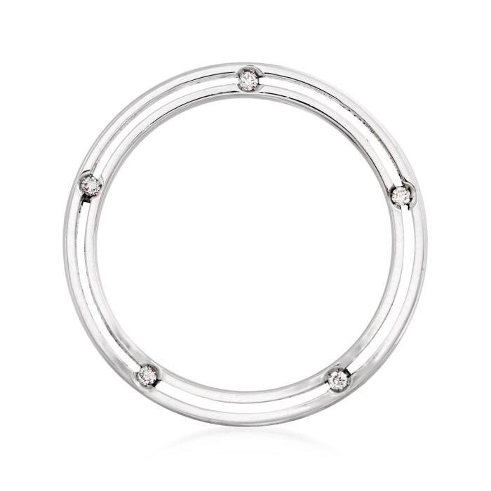C. 1990 Vintage Damiani .10 ct. t.w. Diamond Ring in 18kt White Gold