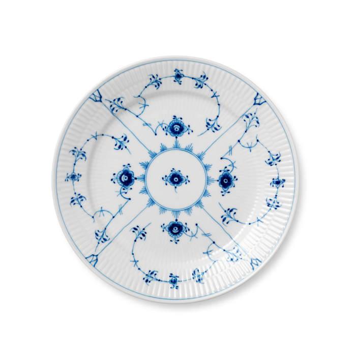 """Royal Copenhagen """"Blue Fluted Plain"""" Porcelain Dinnerware"""