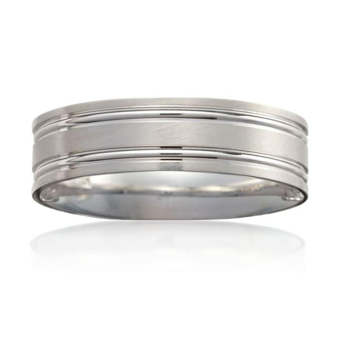 Men's 6mm 14k White Gold Wedding Ring